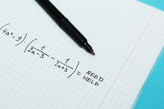 The problem in mathematics is help me royalty free stock images