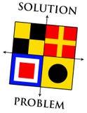 Problem och lösning vektor illustrationer