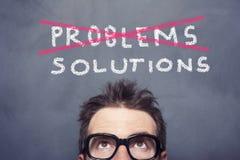 Problem och lösningar royaltyfria bilder