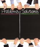 Problem och lösningar Arkivfoton