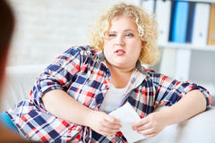 Problem of overweight Royalty Free Stock Photography
