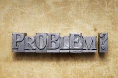 Problem quest Stock Photography