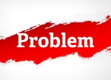 Problem Red Brush Abstract Background Illustration vector illustration
