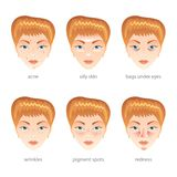 Problem skin vector set Royalty Free Stock Photo