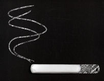 The problem of smoking in school concept Royalty Free Stock Image