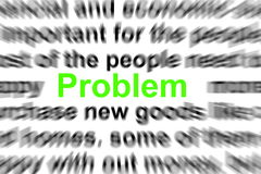Problem and solution. Words showing business concept Stock Images