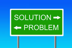Problem and solution. Finding the right way to solve the problem Royalty Free Stock Image
