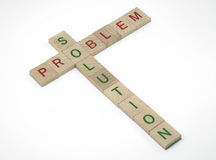 Problem and Solution. Words Problem and Solution spelled out with individual letter blocks Stock Images