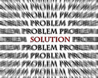 Problem and Solution Black Red Word Opposites Royalty Free Stock Photos
