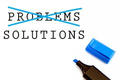 Problem and Solution Stock Photography