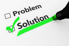 Problem Solution Business Concept Stock Photography