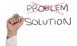 Problem and Solution Stock Photo
