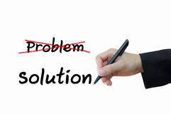 Problem and solution for business concept Royalty Free Stock Image