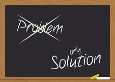 Problem and solution on chalkboard Stock Photos