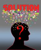 Problem and solution concept Royalty Free Stock Photo