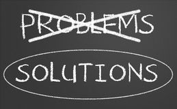 Problem and solution concept Stock Image
