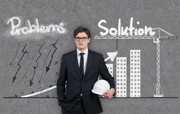 Problem and solution concept Stock Photography