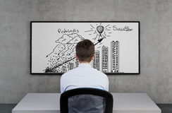 Problem and solution concept Royalty Free Stock Images