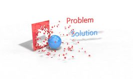 Problem and solution concept, 3d render. Working Stock Photography