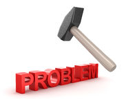 Problem solution concept with hammer Royalty Free Stock Image