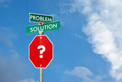 Problem and solution concept Royalty Free Stock Photos