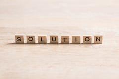 Problem solution concept Stock Photo