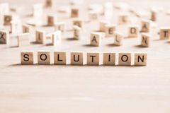 Problem solution concept Royalty Free Stock Image