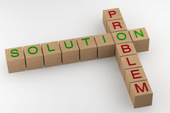 Problem and Solution crossword Stock Image