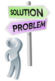 Problem or solution decision Stock Photo
