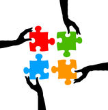 Problem solution. Finding a solution for problems together Stock Images