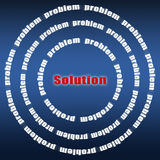 Problem and solution Royalty Free Stock Photo