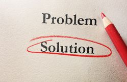 Problem Solution red circle Stock Photos