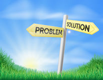 Problem solution sign concept Stock Photos