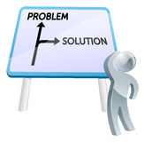 Problem or solution sign Stock Photo