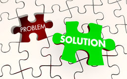 Problem Solution Solved Puzzle Piece Fixed Stock Image
