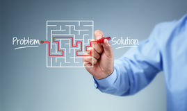 Problem and solution strategy Royalty Free Stock Images