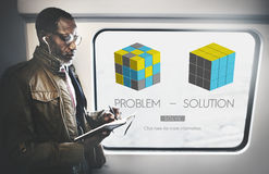 Problem Solution Strategy Trouble Difficulty Ideas Concept Stock Photos