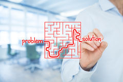 Problem solution Stock Images