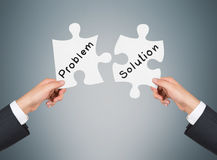 Problem and solution Royalty Free Stock Photography