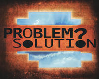 Problem and solution Royalty Free Stock Photos