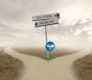 Problem and solution way Stock Photography
