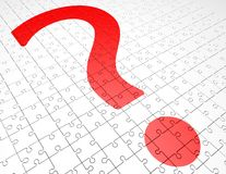 Problem solutions abstract concept with question mark Stock Image