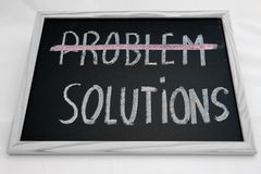Problem solutions Royalty Free Stock Photography