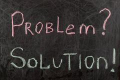 Problem and Solutions Sign Stock Image