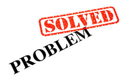 Problem SOLVED. The Problem has been SOLVED stock photography