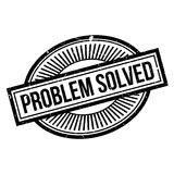 Problem Solved rubber stamp Stock Photography