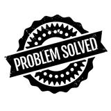 Problem Solved rubber stamp Stock Images