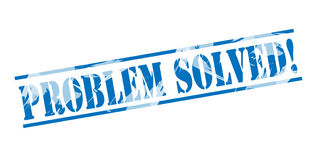Problem solved stamp. Problem solved blue stamp isolated on white background Stock Photography