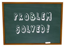 Problem Solved Words Chalkboard Solution Royalty Free Stock Photos