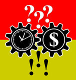Problem Solver. Time and money will turn many questions into answers as simple business advice Stock Images